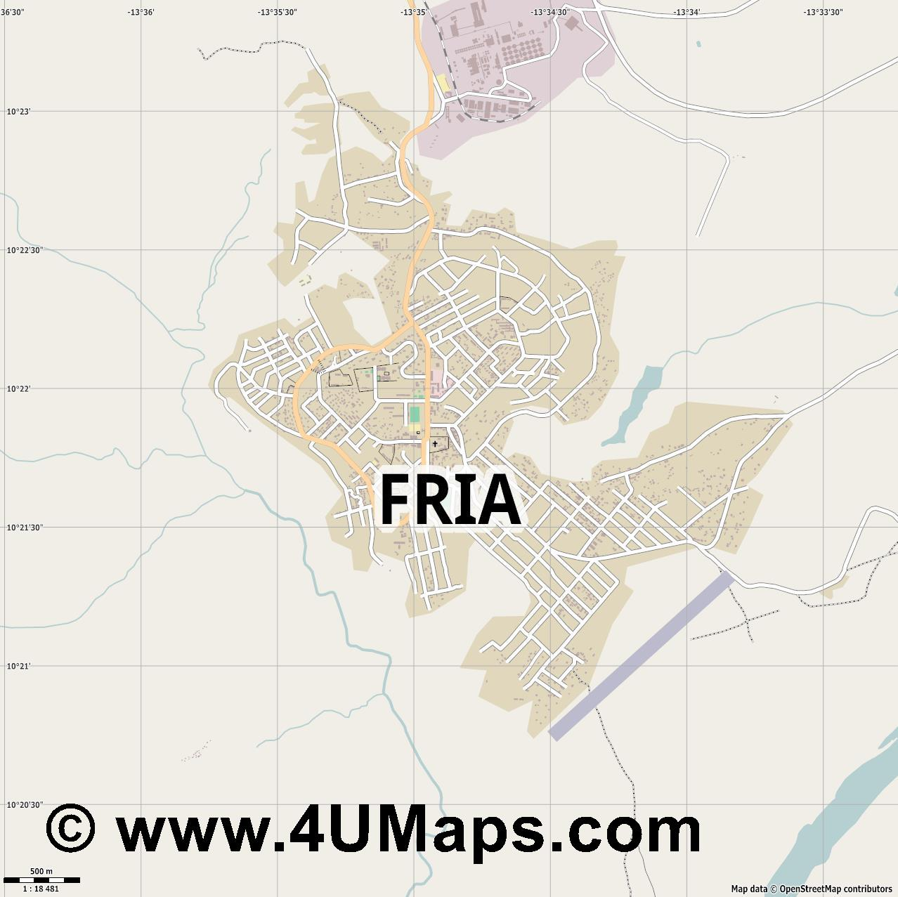 Fria  jpg ultra high detail preview vector city map