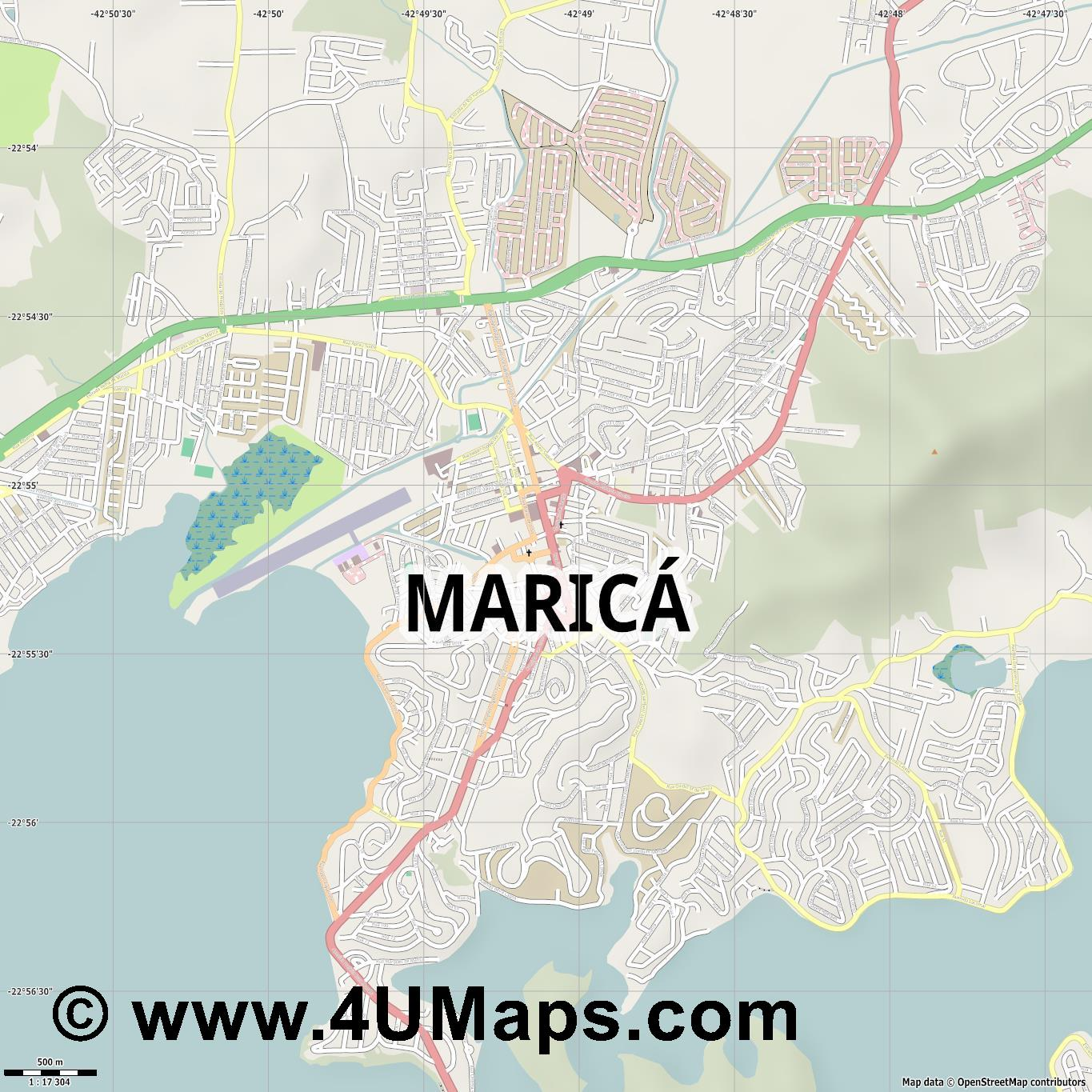 Maricá  jpg ultra high detail preview vector city map