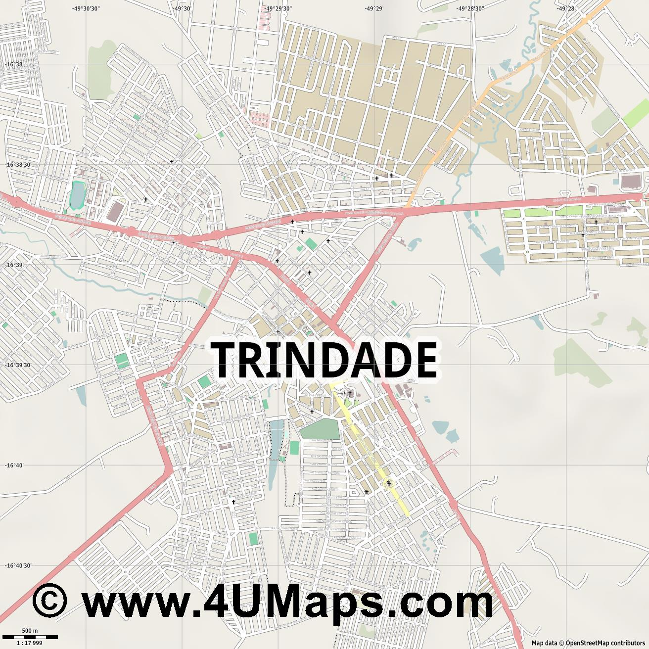 Trindade  jpg ultra high detail preview vector city map