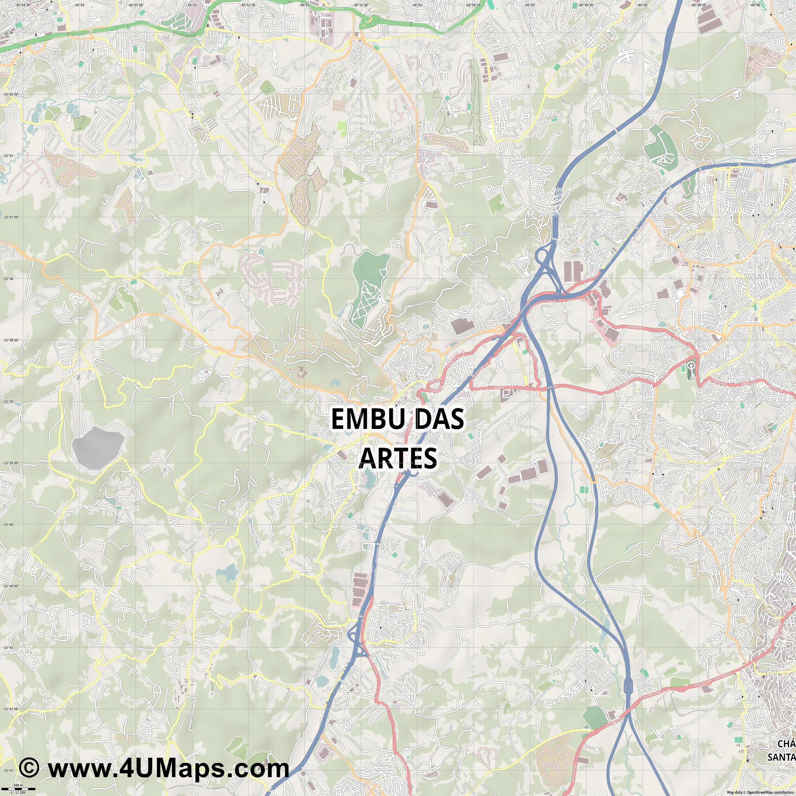 Embu das Artes  jpg ultra high detail preview vector city map