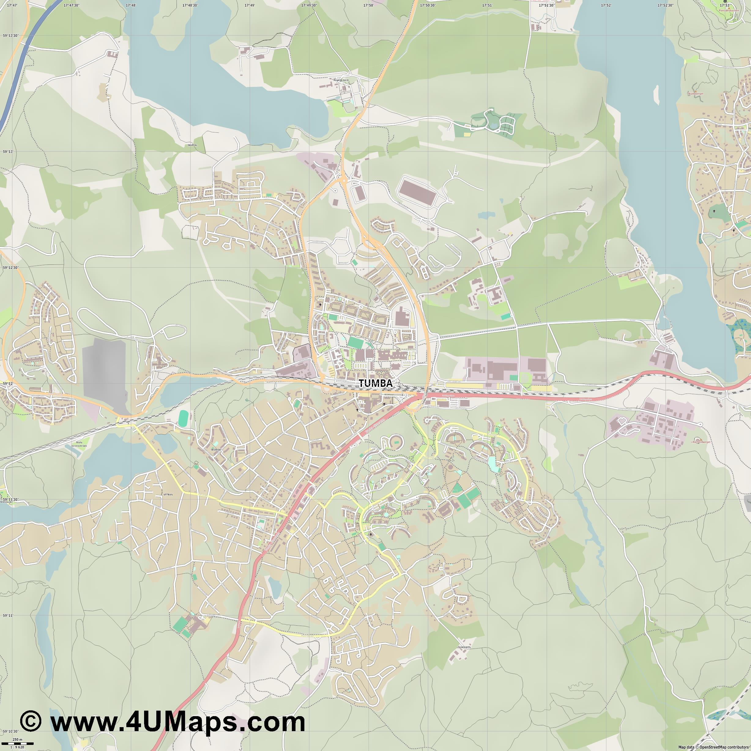 Tumba  jpg ultra high detail preview vector city map