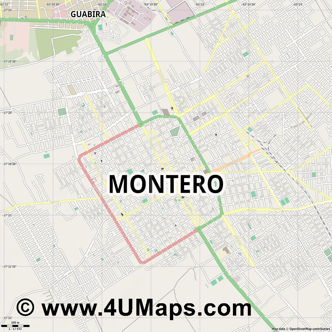 Montero  jpg ultra high detail preview vector city map