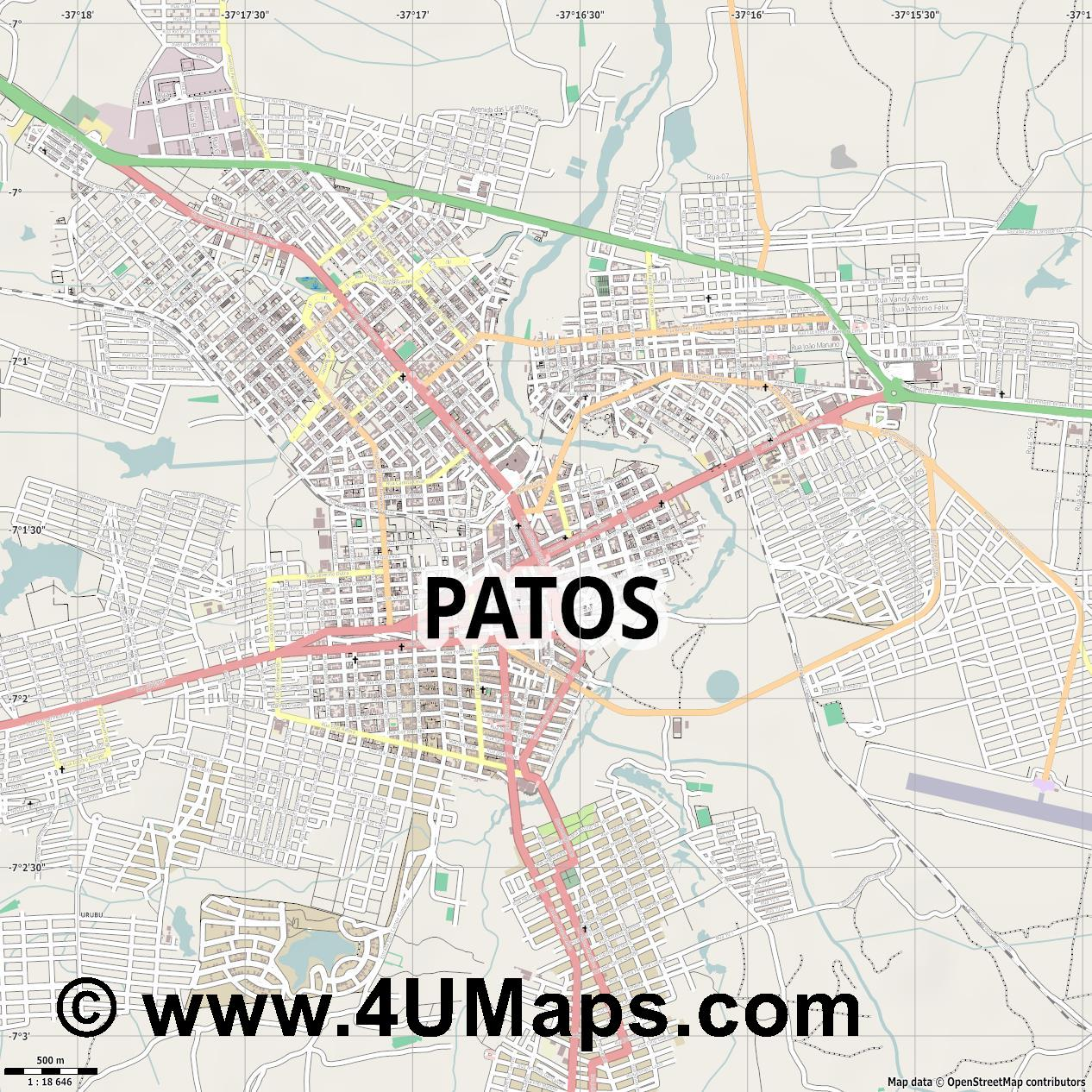 Patos  jpg ultra high detail preview vector city map