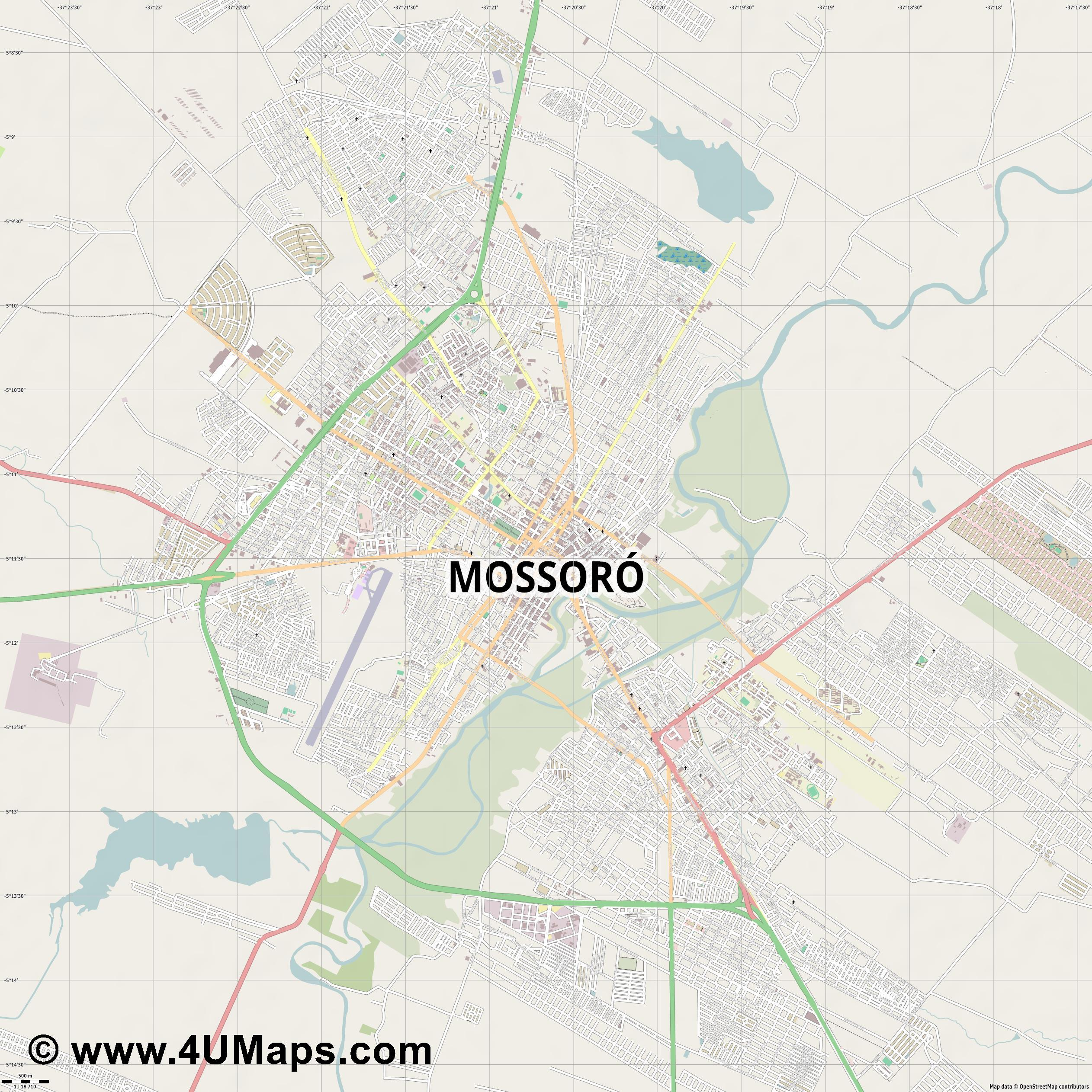 Mossoró  jpg ultra high detail preview vector city map