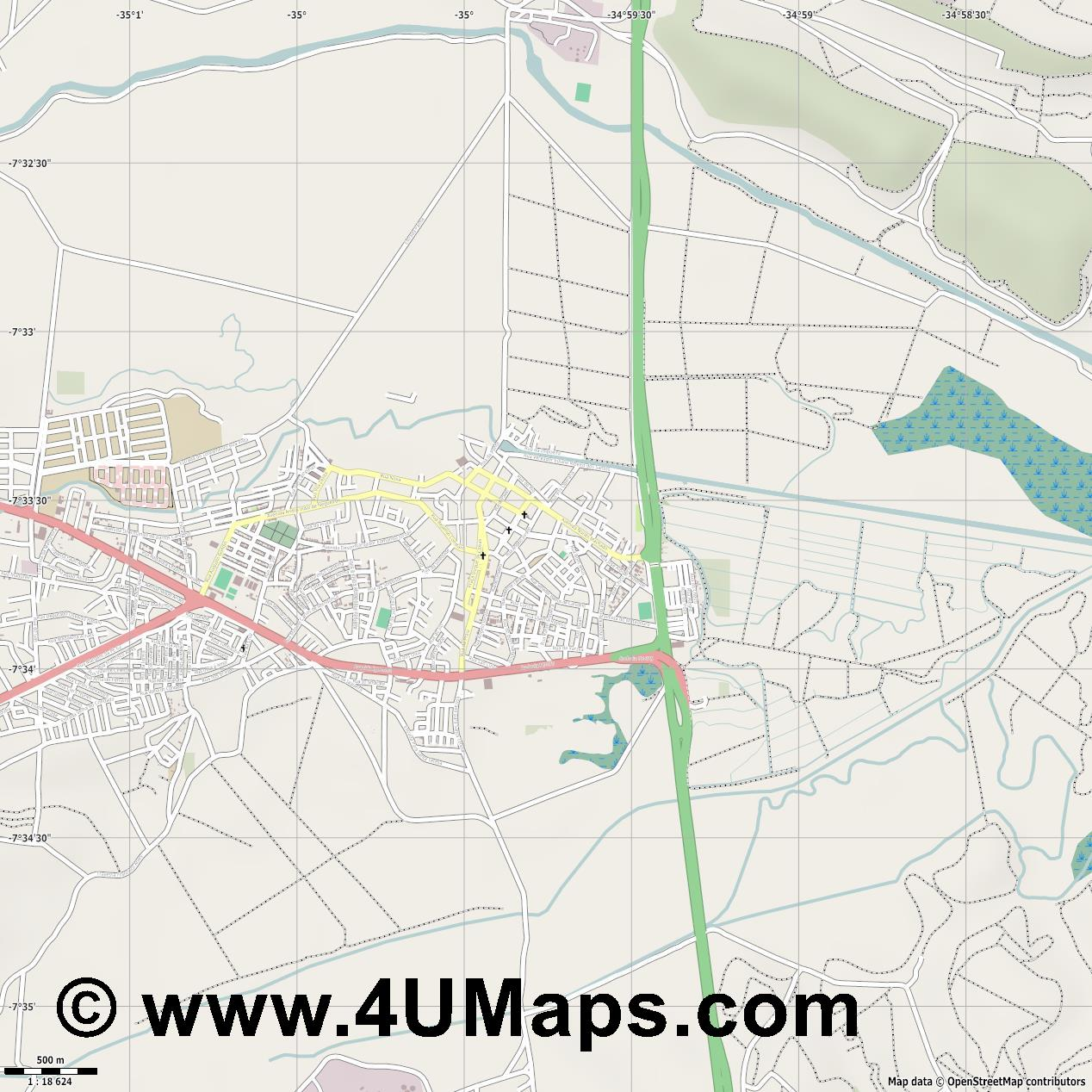Goiana  jpg ultra high detail preview vector city map
