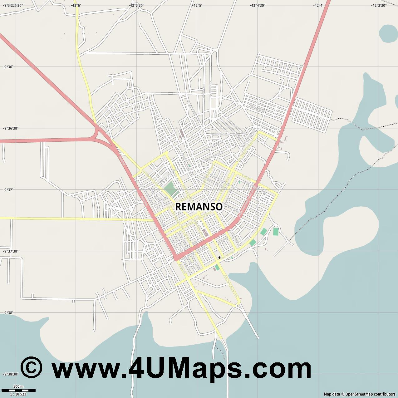Remanso  jpg ultra high detail preview vector city map