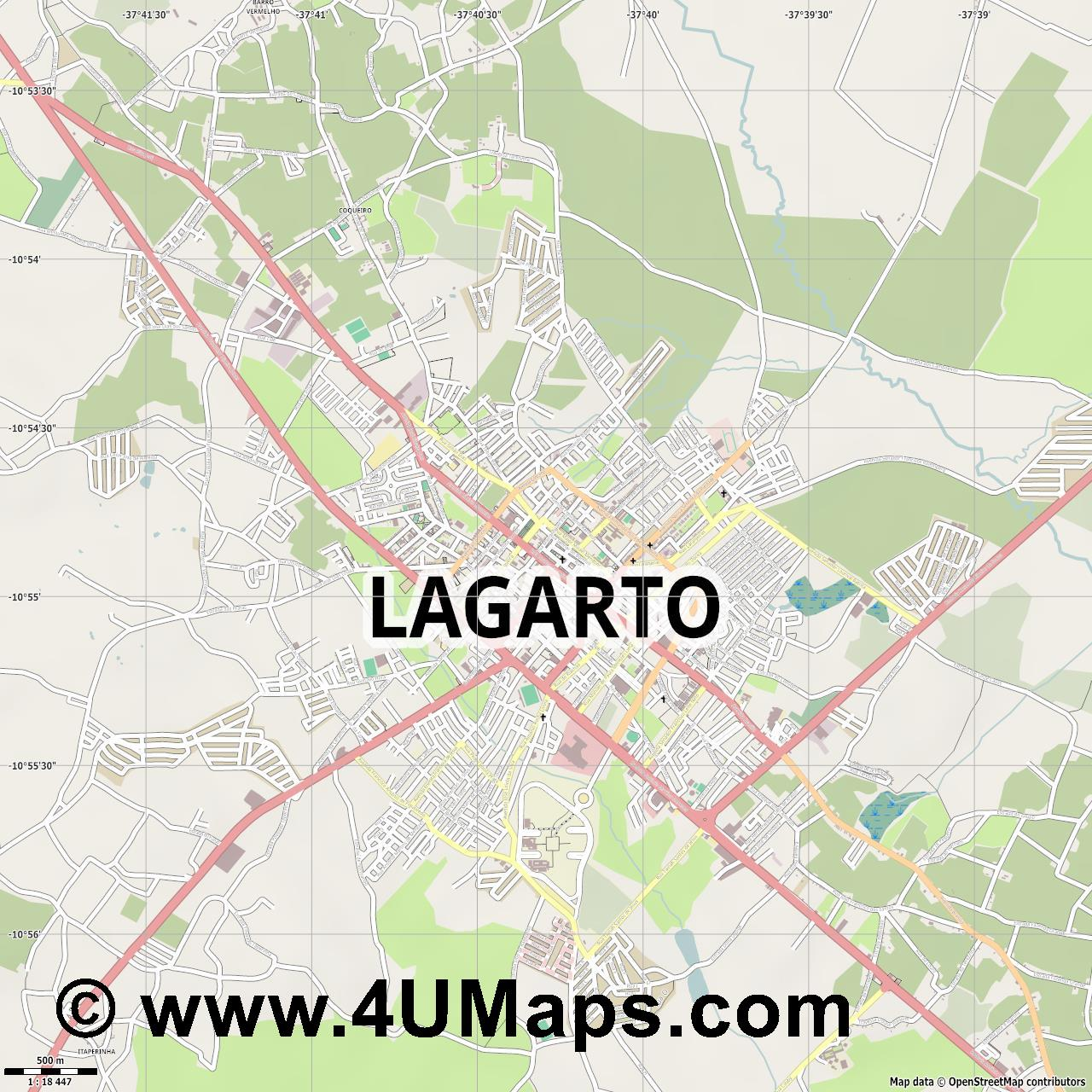 Lagarto  jpg ultra high detail preview vector city map