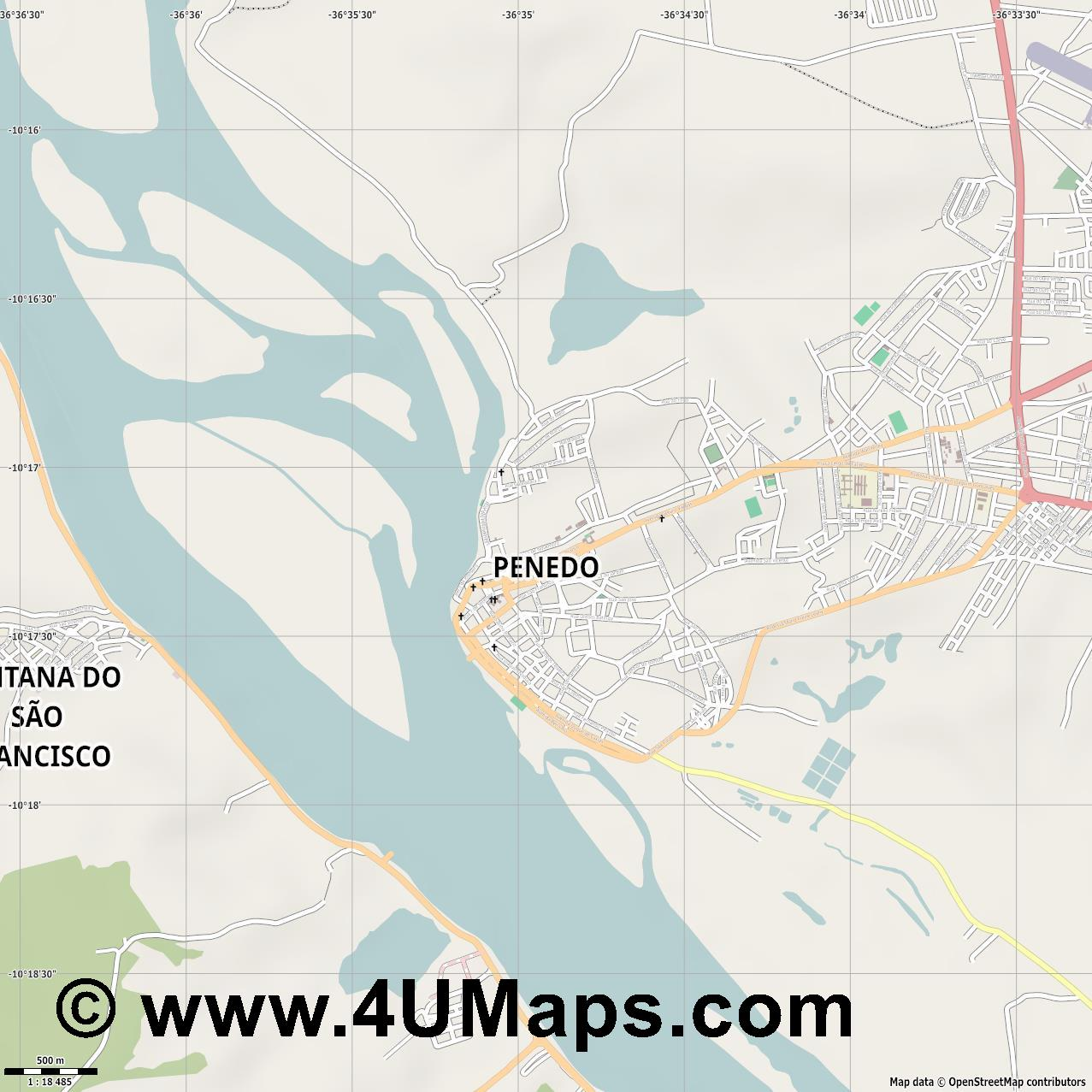 Penedo  jpg ultra high detail preview vector city map