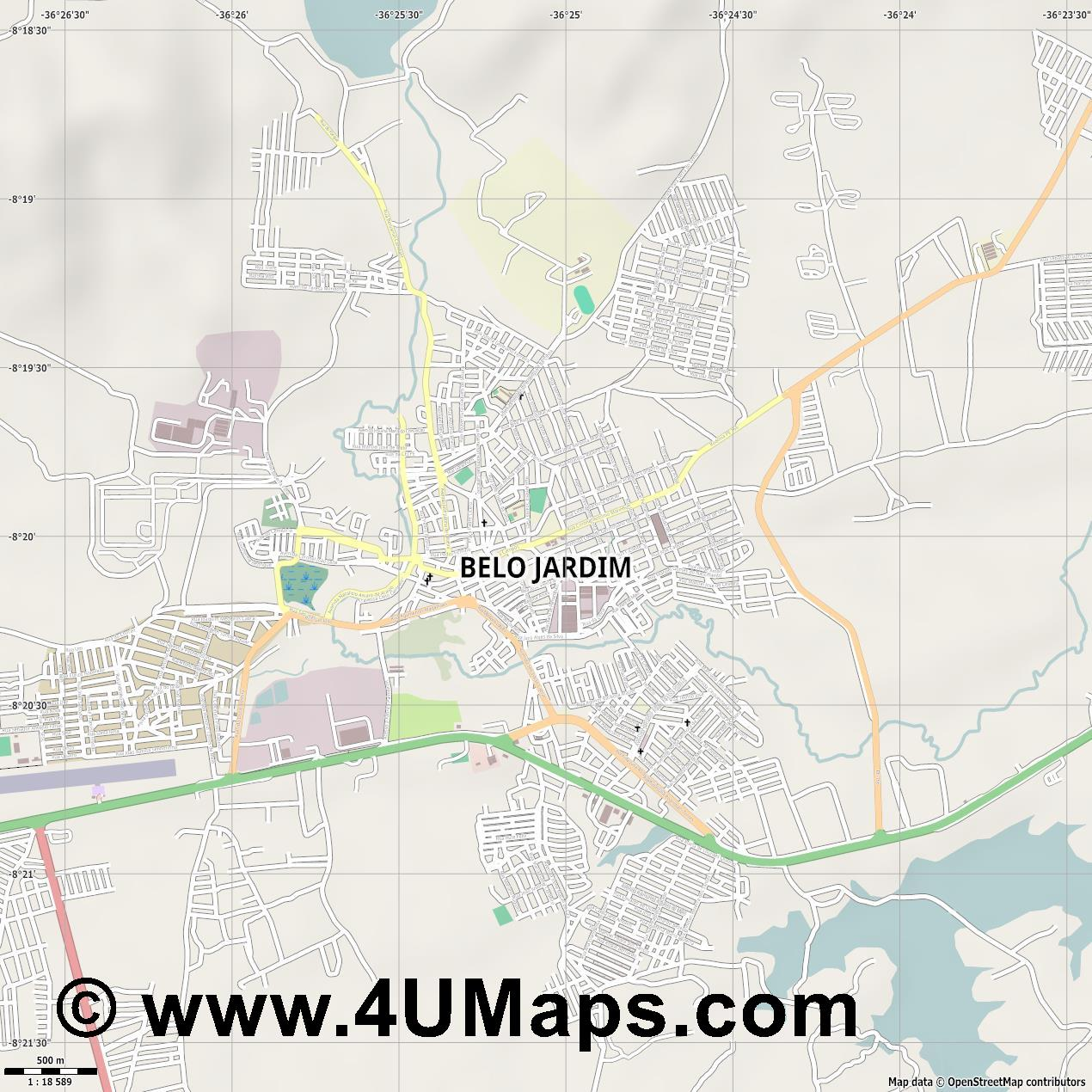 Belo Jardim  jpg ultra high detail preview vector city map