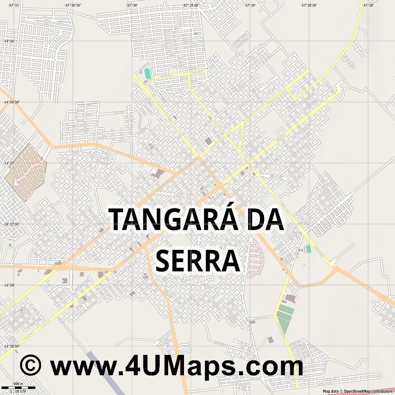 Tangará da Serra  jpg ultra high detail preview vector city map