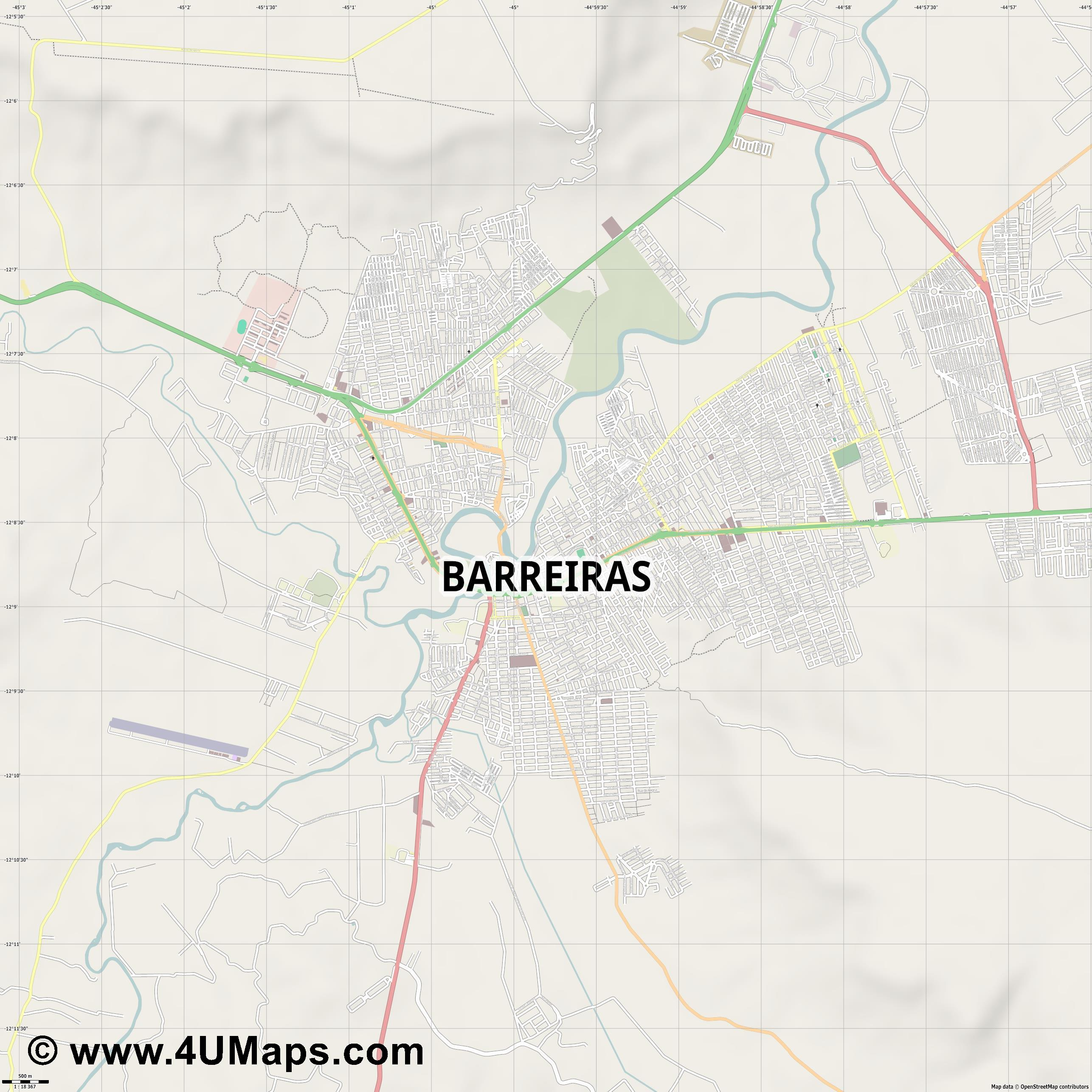 Barreiras  jpg ultra high detail preview vector city map