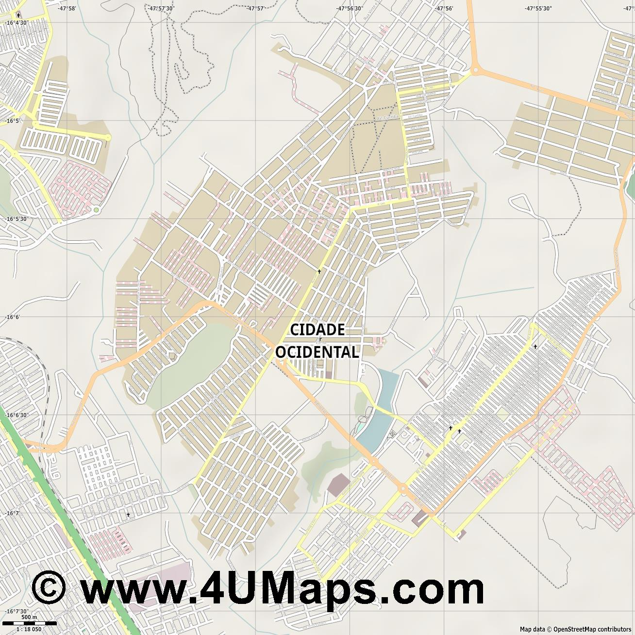 Cidade Ocidental  jpg ultra high detail preview vector city map