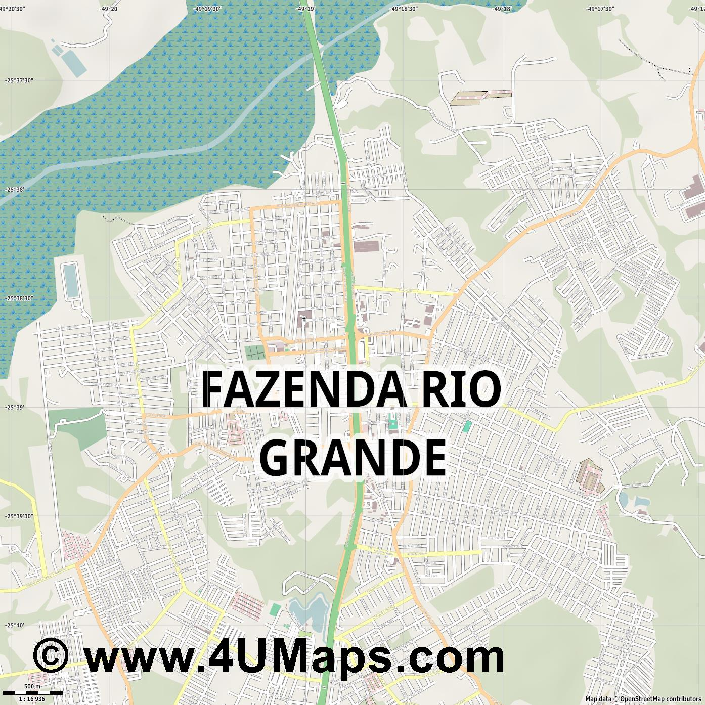 Fazenda Rio Grande  jpg ultra high detail preview vector city map