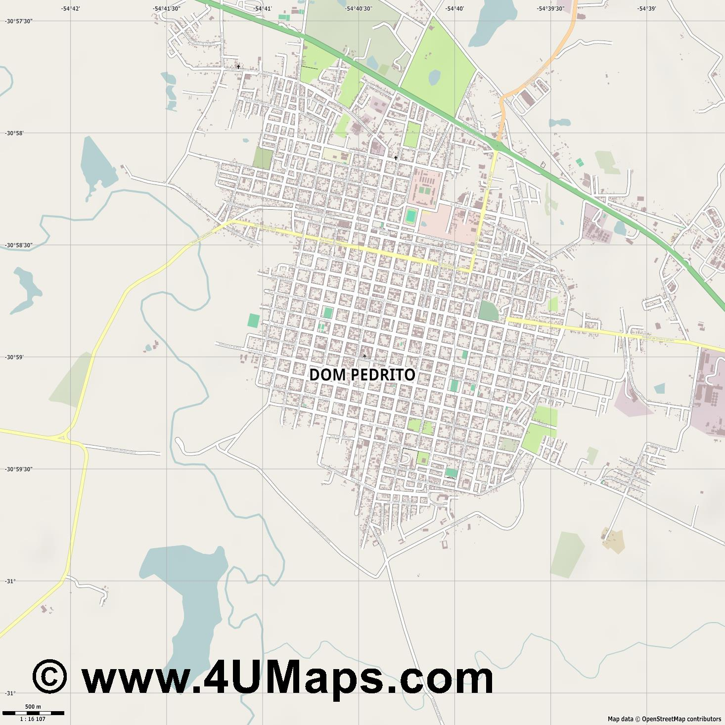 Dom Pedrito  jpg ultra high detail preview vector city map