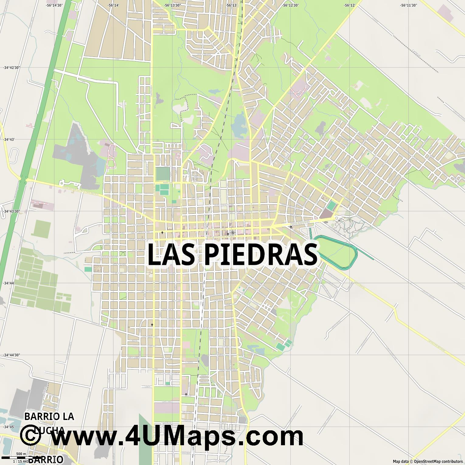 Las Piedras  jpg ultra high detail preview vector city map