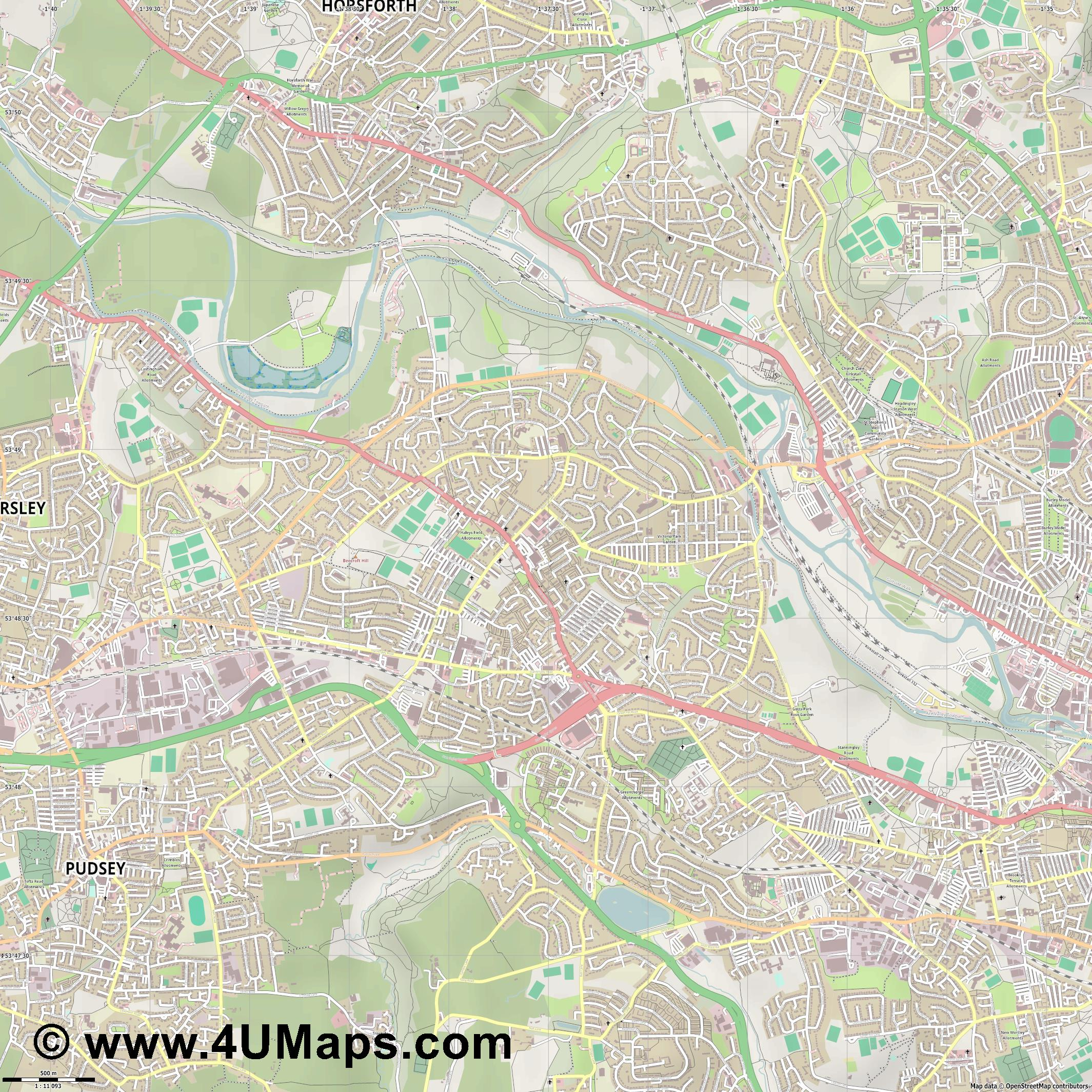 Bramley  jpg ultra high detail preview vector city map