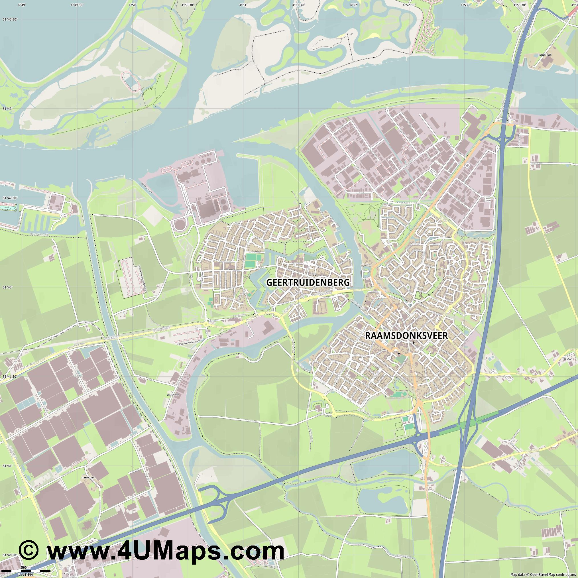 Geertruidenberg  jpg ultra high detail preview vector city map