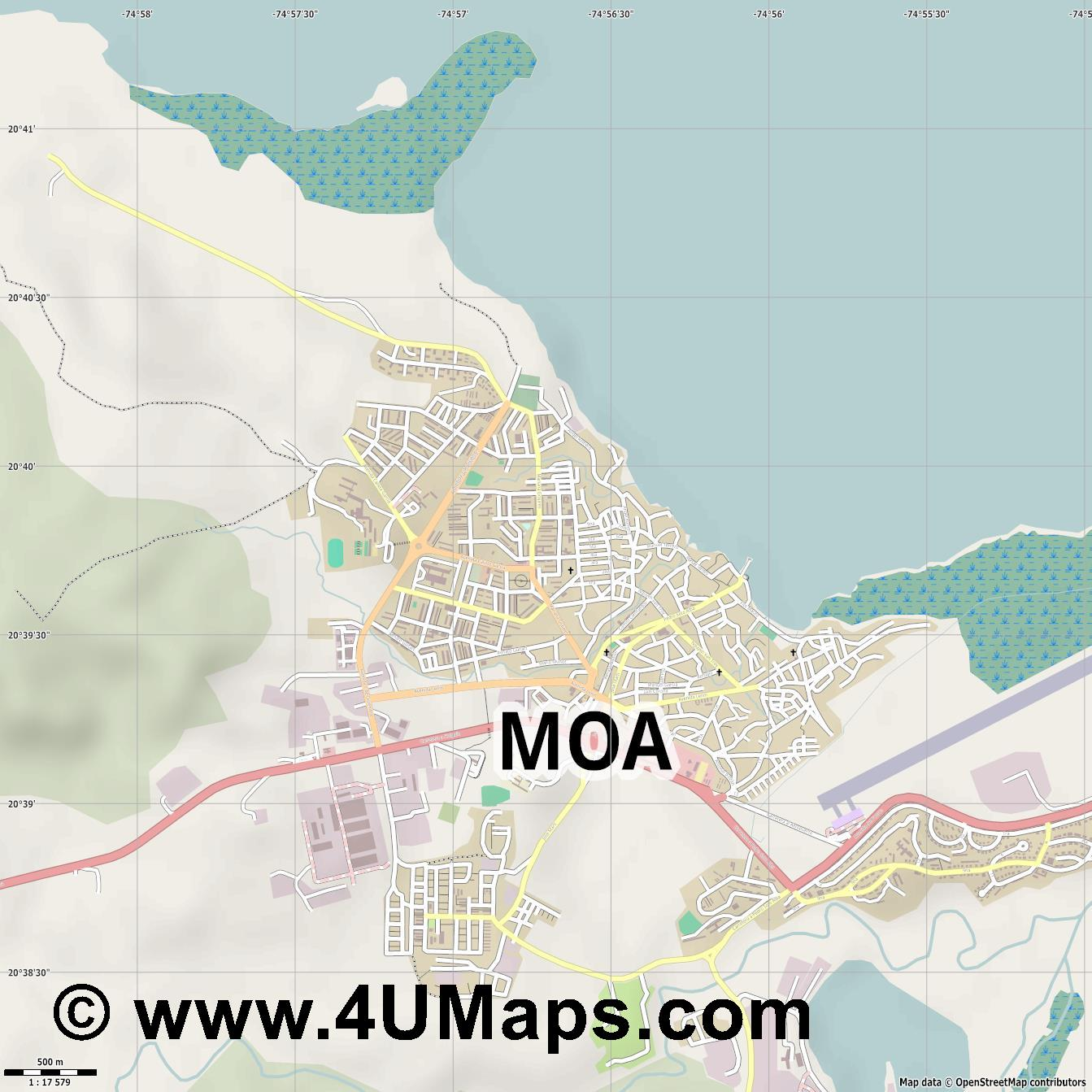 Moa  jpg ultra high detail preview vector city map