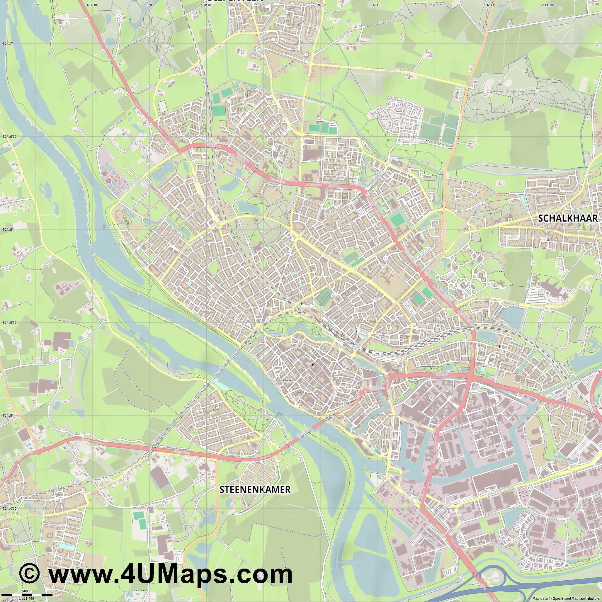 PDF Svg Scalable Vector City Map Deventer