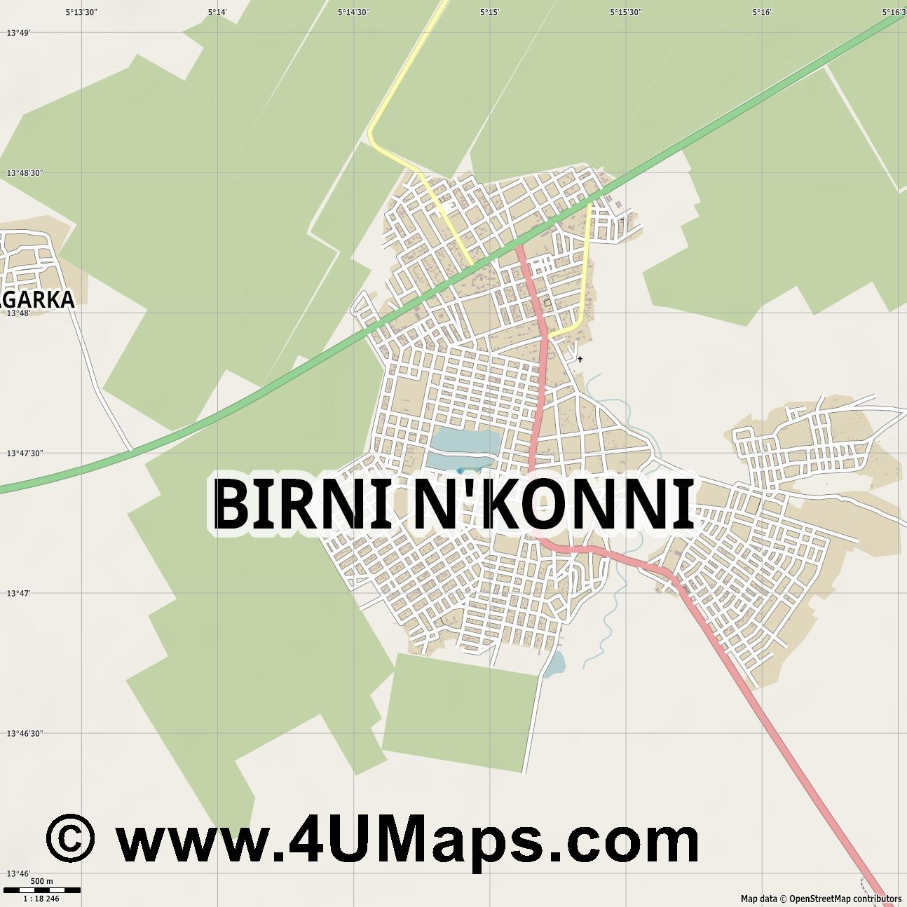 Birni N Konni  jpg ultra high detail preview vector city map