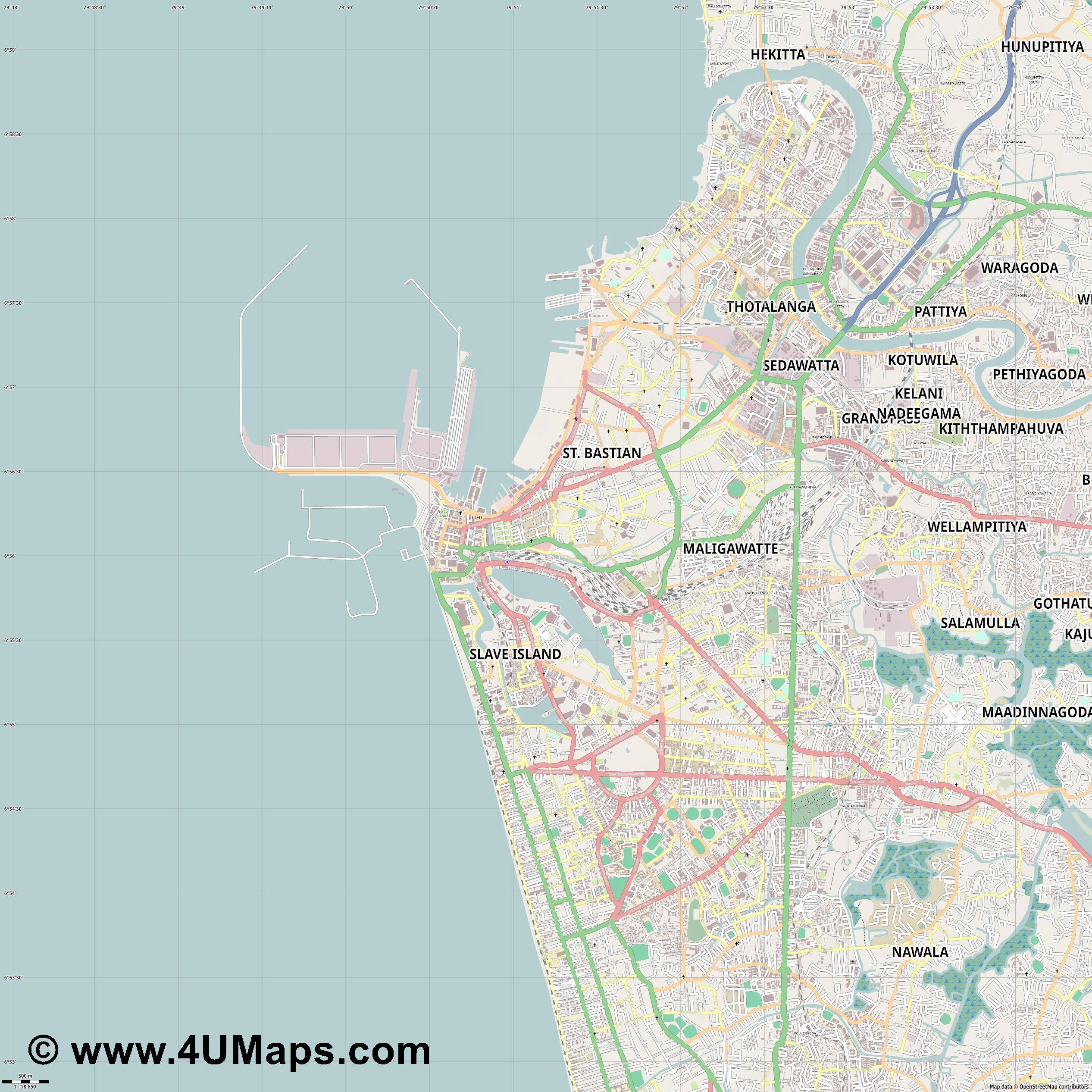 Colombo  jpg ultra high detail preview vector city map