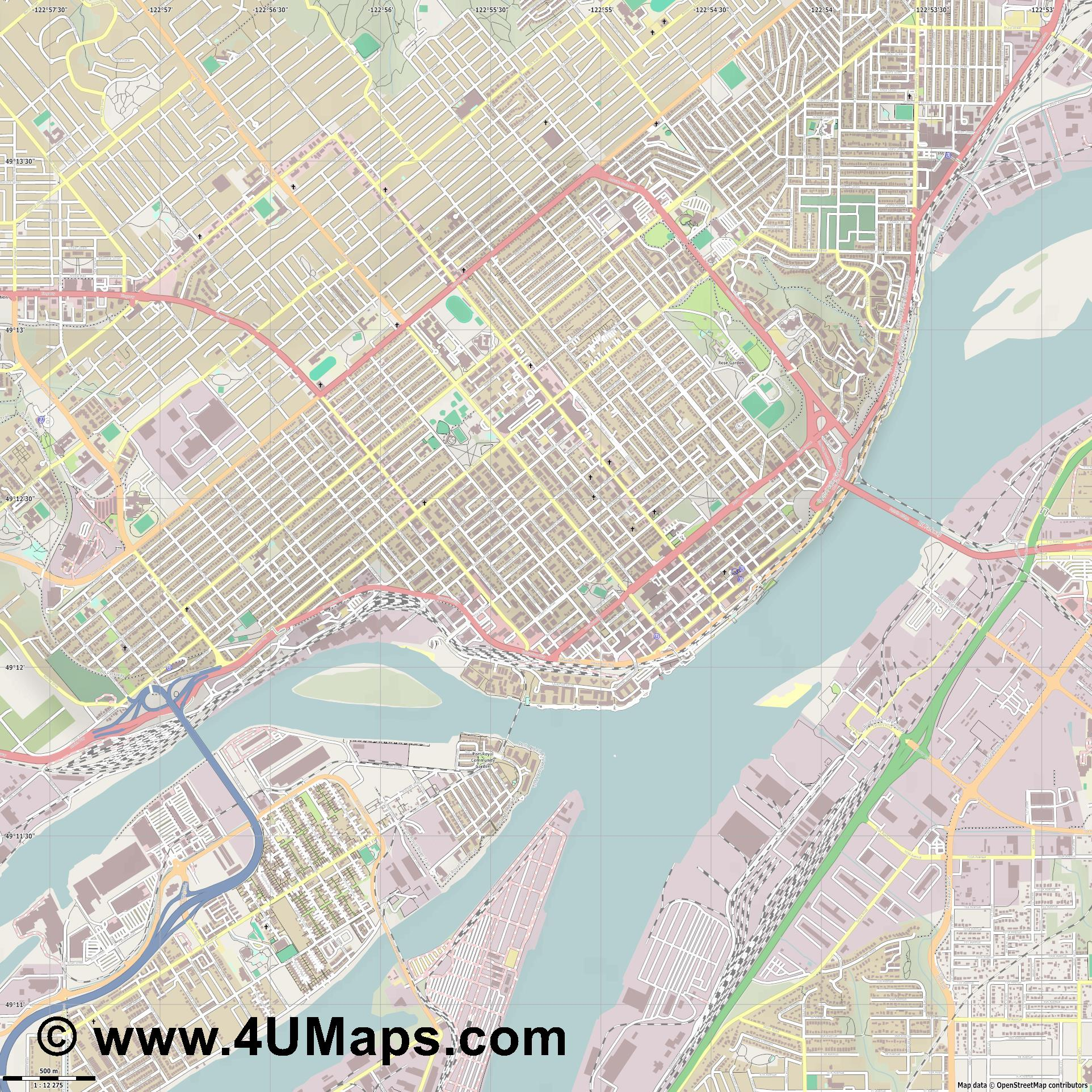 New Westminster  jpg ultra high detail preview vector city map