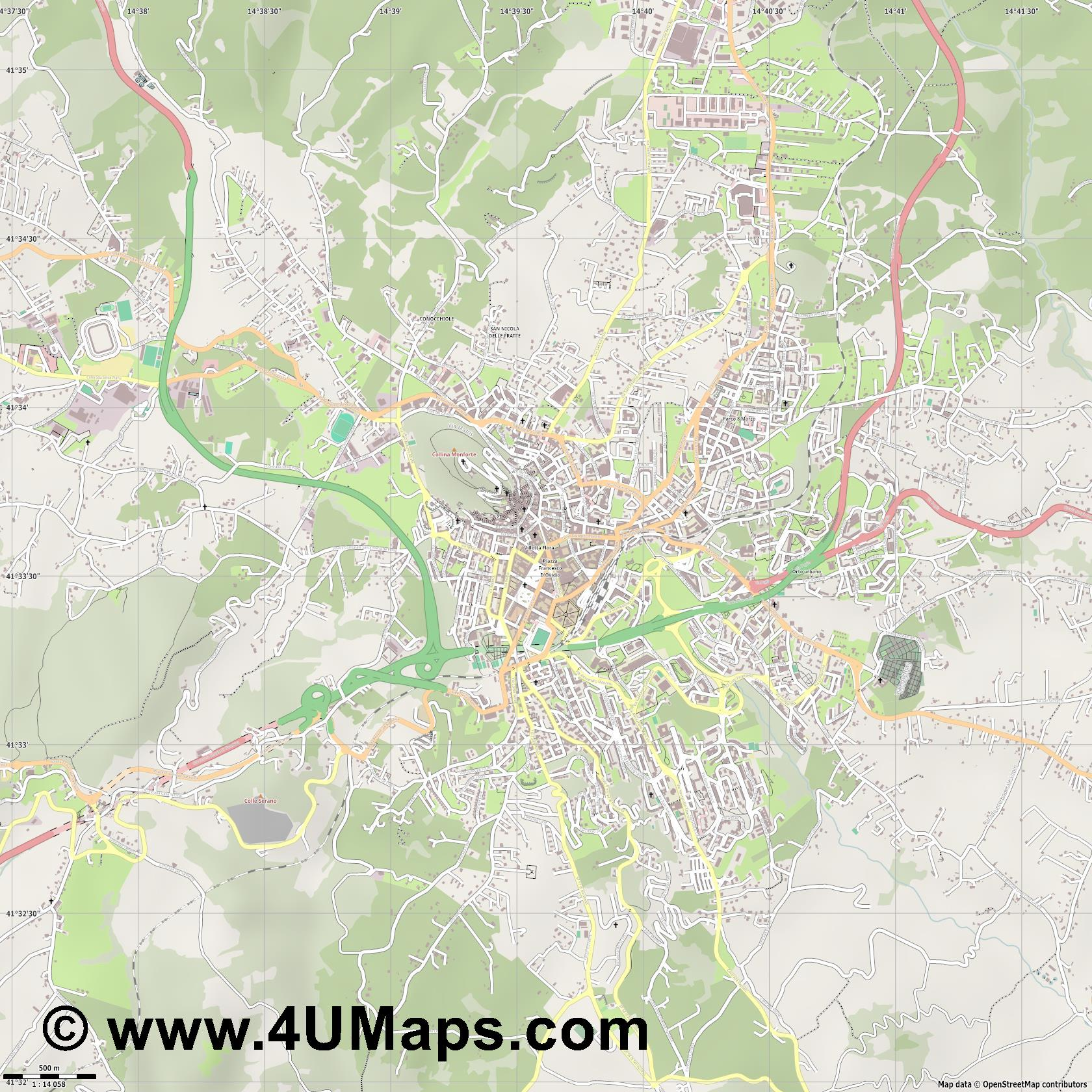 Campobasso  jpg ultra high detail preview vector city map