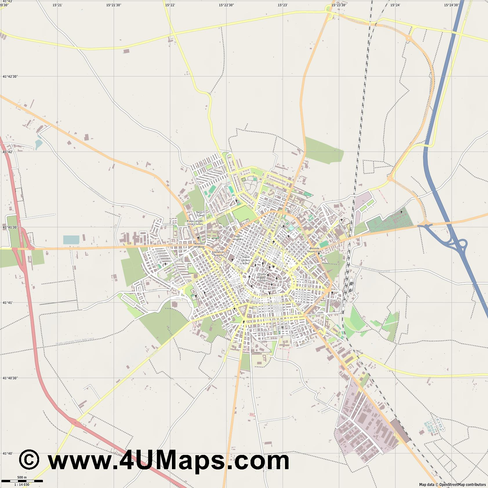 San Severo  jpg ultra high detail preview vector city map