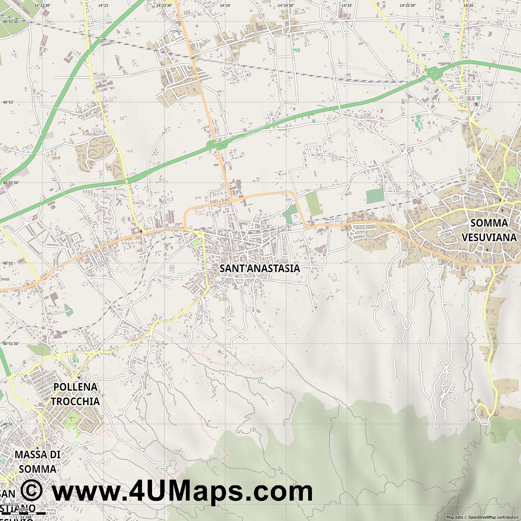 Sant Anastasia  jpg ultra high detail preview vector city map