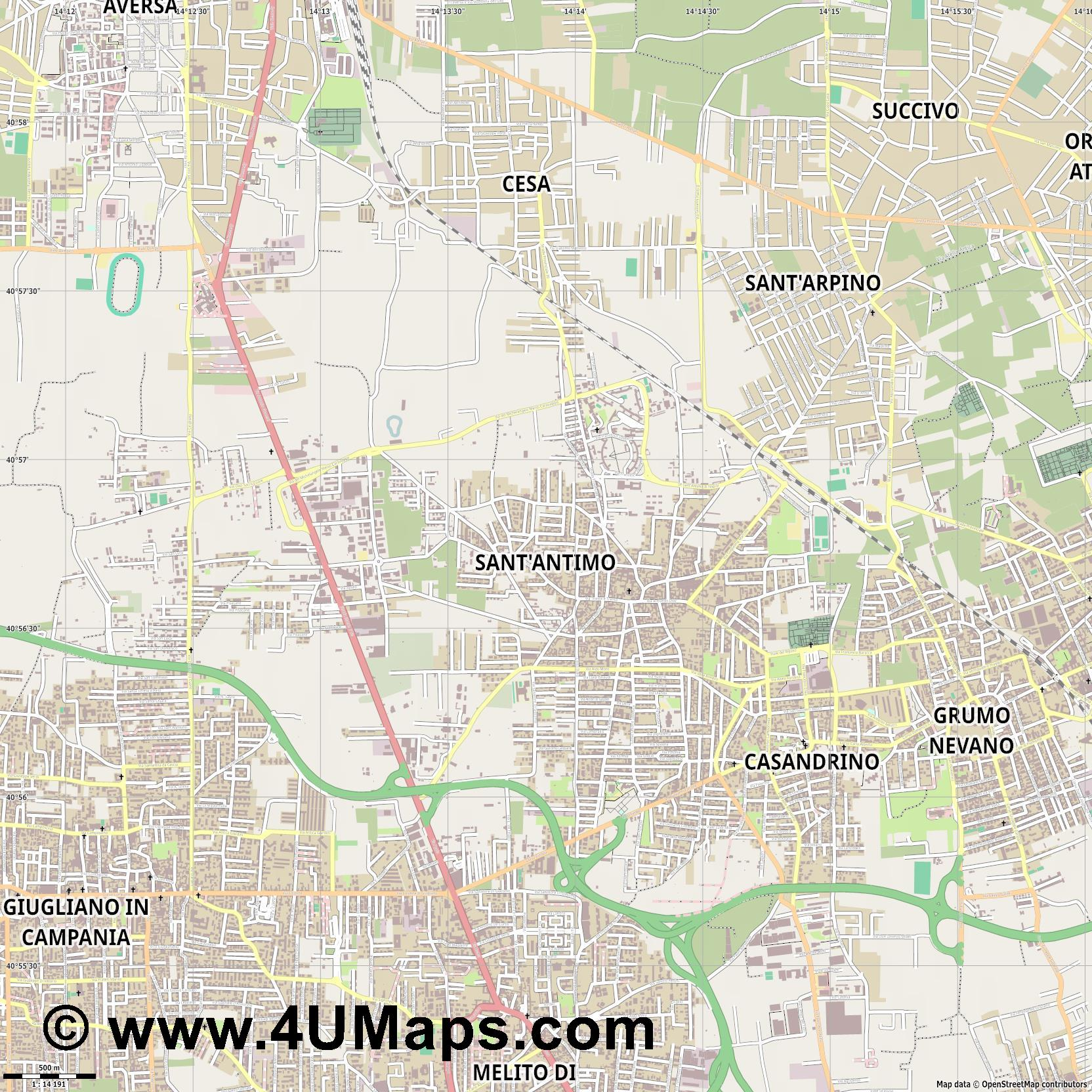 Sant Antimo  jpg ultra high detail preview vector city map