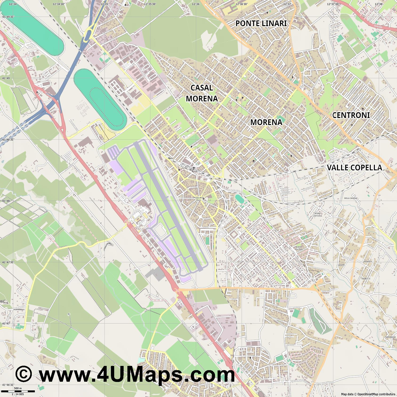 Ciampino  jpg ultra high detail preview vector city map