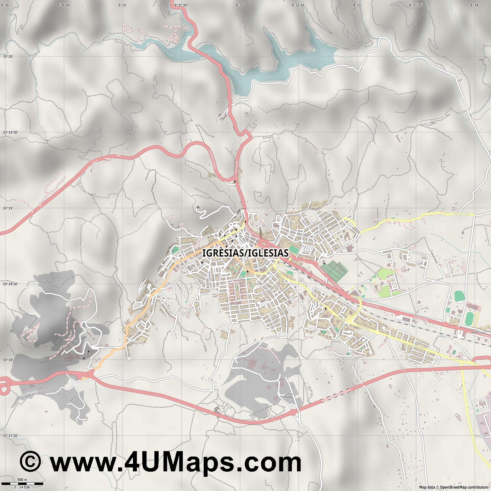 Iglesias  jpg ultra high detail preview vector city map