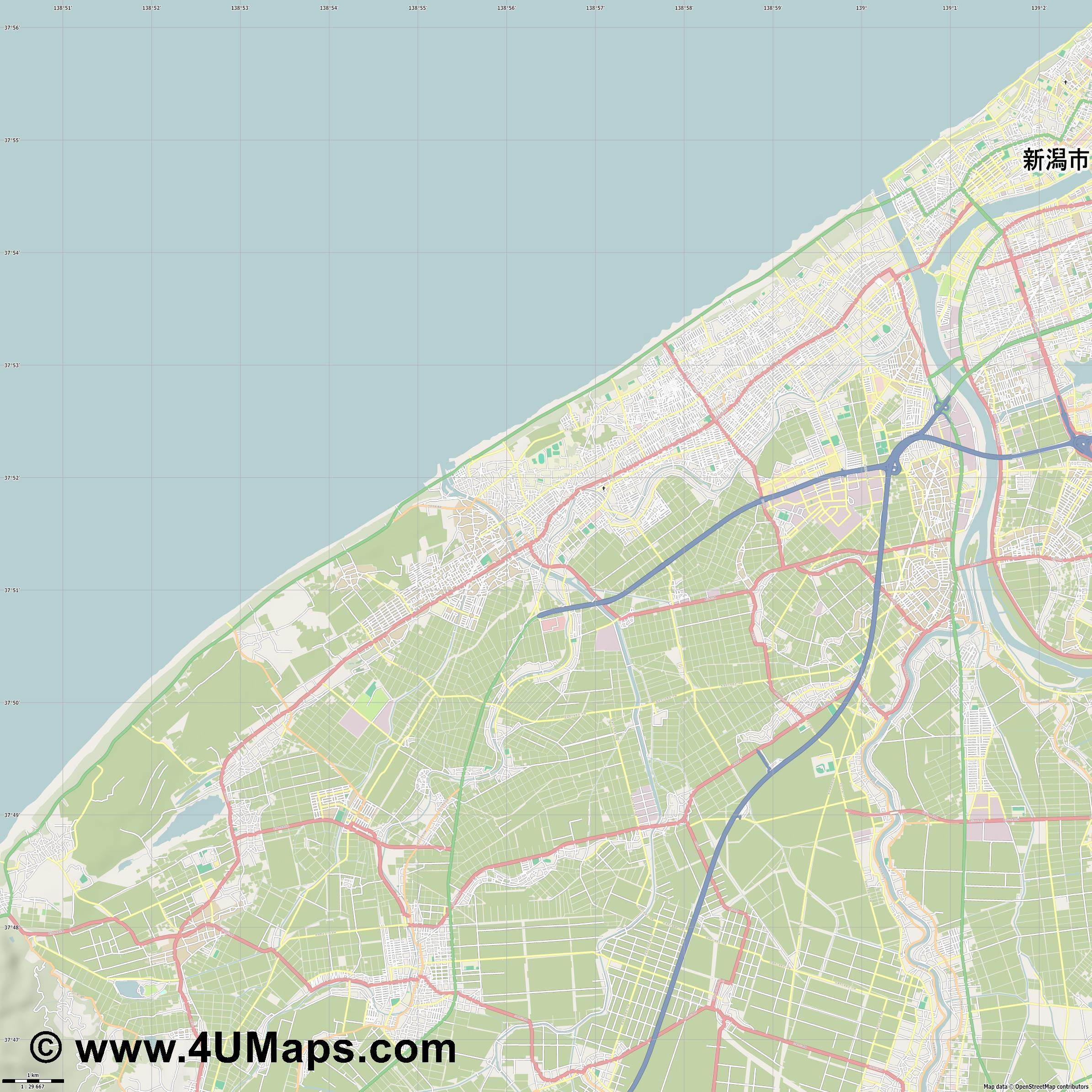 西区  Nishi Ward   jpg high detail, large area preview vector city map