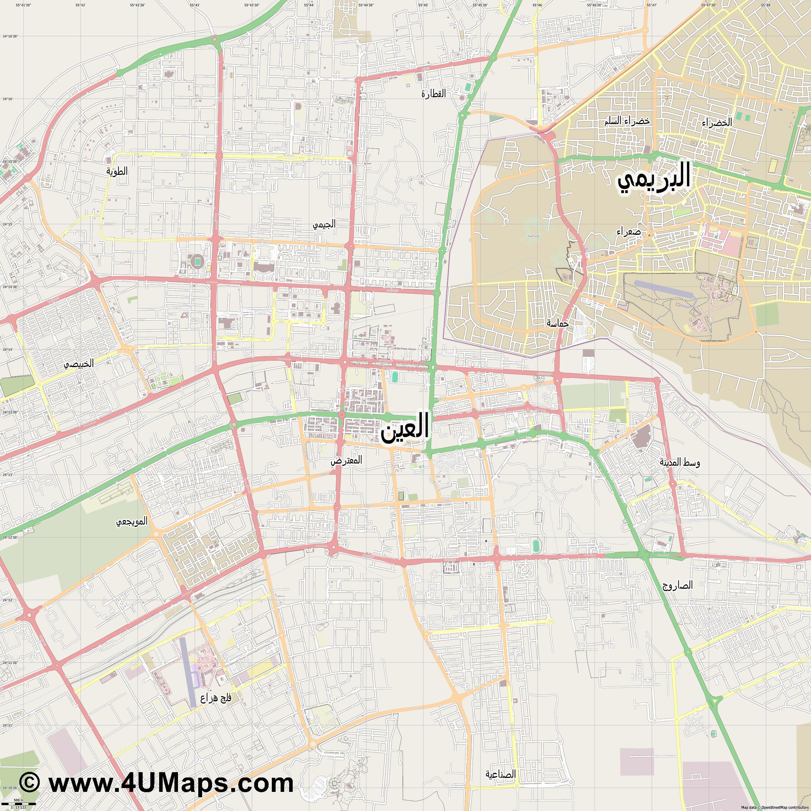 Svg Scalable Vector City Map Al Ain - Al ain map