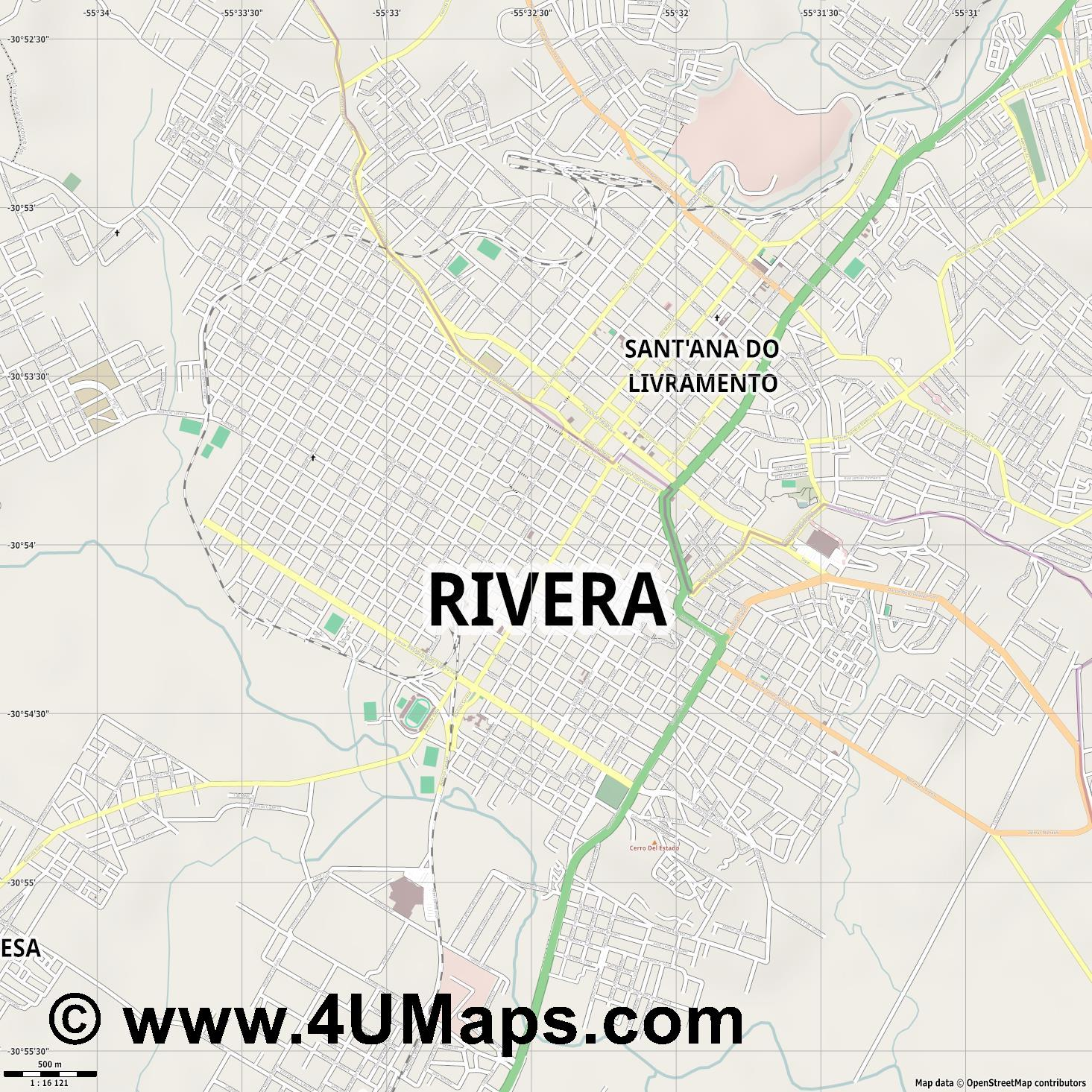 Rivera  jpg ultra high detail preview vector city map