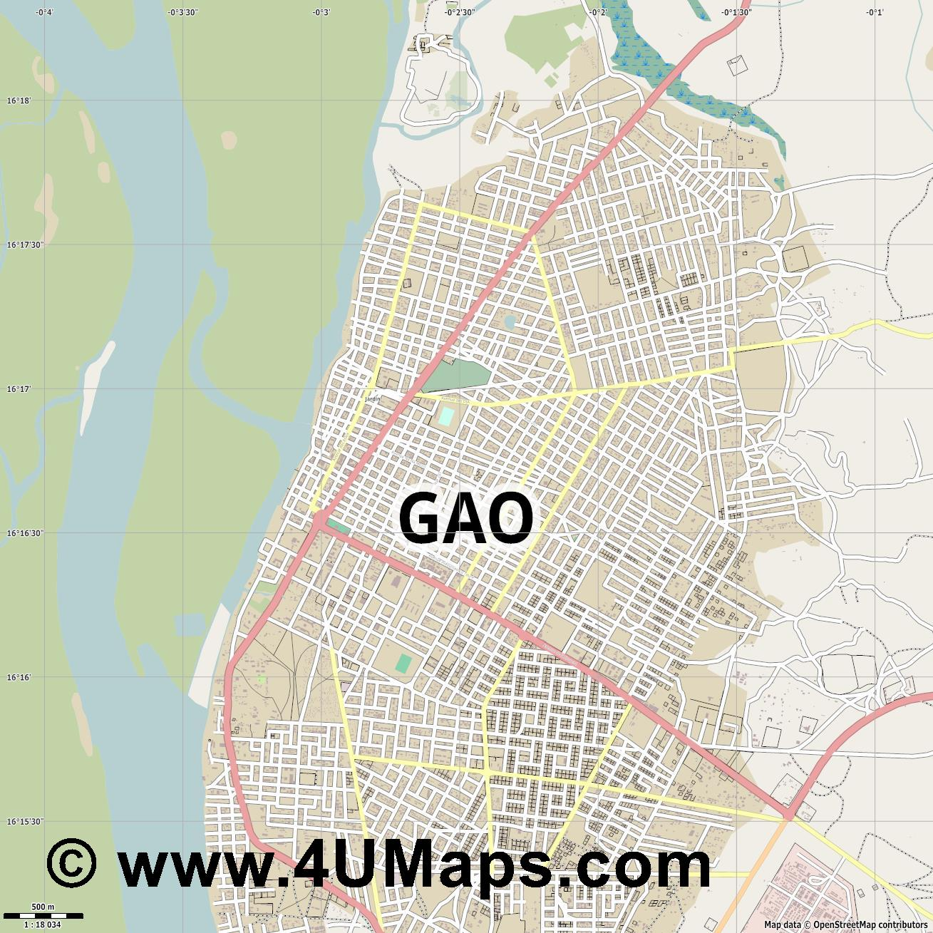 Gao  jpg ultra high detail preview vector city map