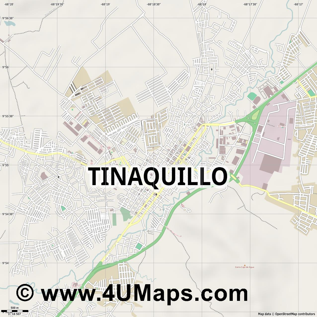 Tinaquillo  jpg ultra high detail preview vector city map