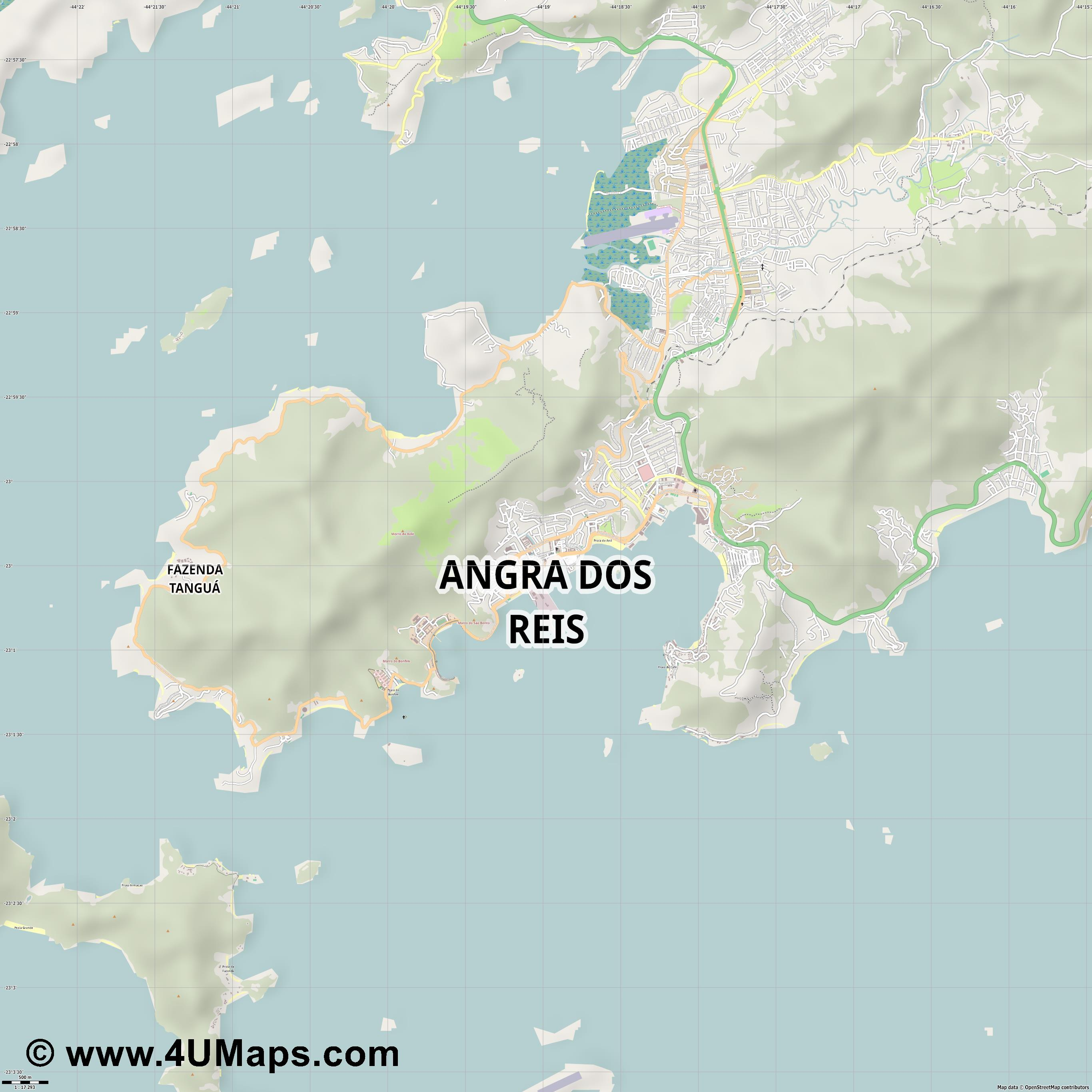 Angra dos Reis  jpg ultra high detail preview vector city map